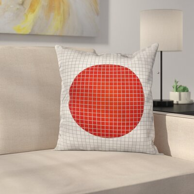 Japanese Flag Pillow Cover Size: 18 x 18