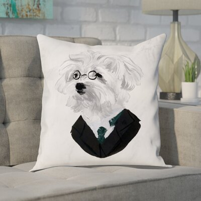 Faria Businessman Pup Throw Pillow