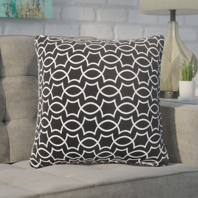Pamelia Geometric Outdoor Throw Pillow Size: 18 H x 18 W
