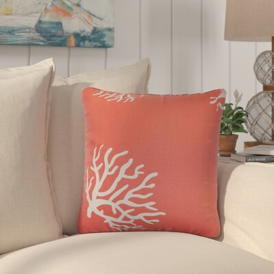 Dredgers Coral Cotton Throw Pillow