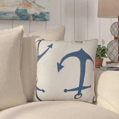 Willen Coastal Cotton Throw Pillow Color: Navy Blue