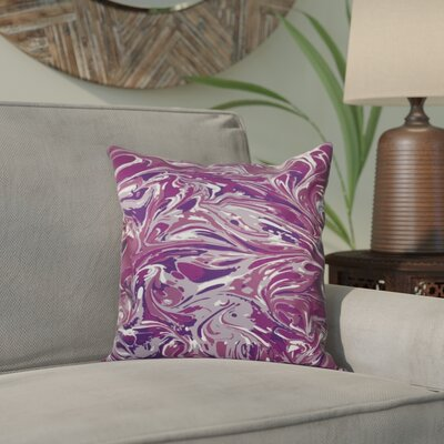 Willa M�lange Geometric Print Throw Pillow Size: 26 H x 26 W, Color: Purple