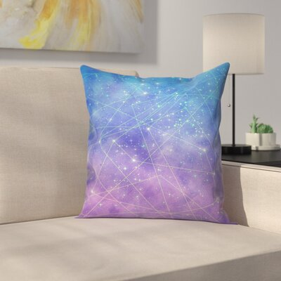 Map of the Stars Throw Pillow Size: 14 x 14