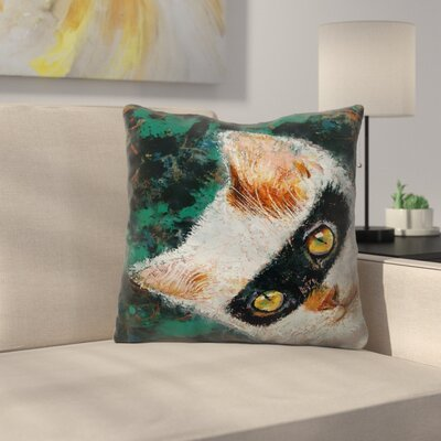 Michael Creese Cat Burglar Throw Pillow Size: 20 x 20