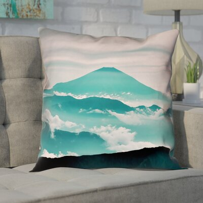 Enciso Fuji Linen Pillow Cover Size: 18 H x 18 W, Color: Green