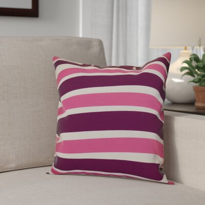 Hanukkah 2016 Decorative Holiday Striped Outdoor Throw Pillow Size: 16 H x 16 W x 2 D, Color: Purple