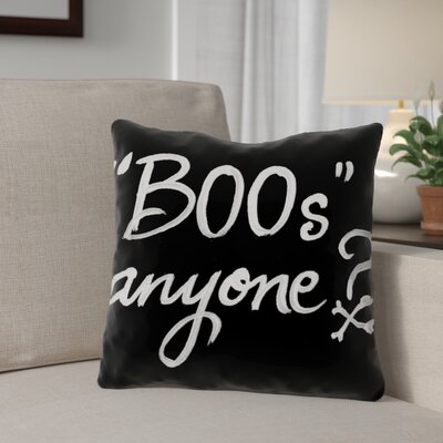 Halloween Boos Anyone Throw Pillow Size: 16 x 16