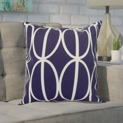 Crosswhite Ovals Go Round Geometric Print Indoor/Outdoor Throw Pillow Color: Navy Blue, Size: 18 x 18