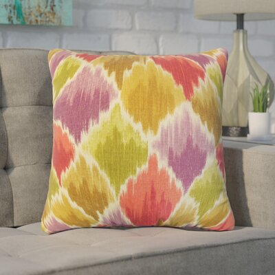 Nutt Geometric Cotton Throw Pillow Color: Purple/Red