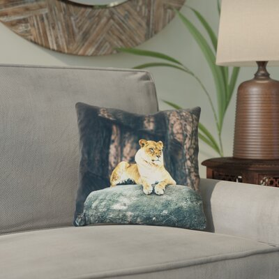 Thatcher Lioness Indoor Throw Pillow Size: 14 x 14