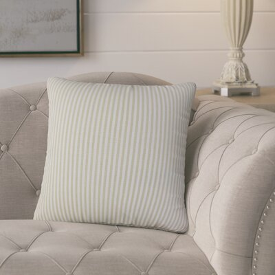 Melinda Classic Stripes Throw Pillow Cover Color: Beige
