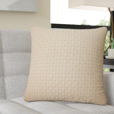 Quintanar Geometric Throw Pillow Color: Honey