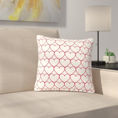 Anneline Sophia Soulmates Love Outdoor Throw Pillow Size: 18 H x 18 W x 5 D