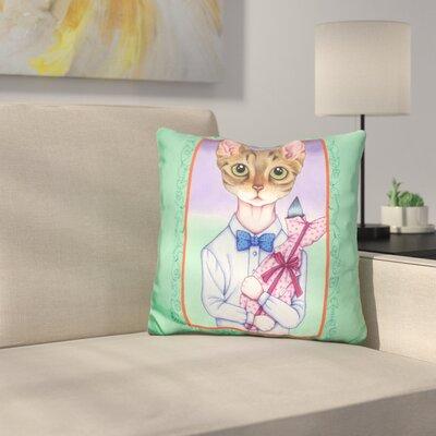 Fish Cat Throw Pillow