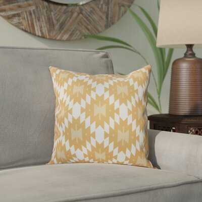 Willa Jodhpur Kilim Geometric Print Throw Pillow Size: 26 H x 26 W, Color: Gold
