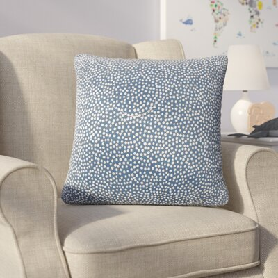 Bartlett Polka Dot Throw Pillow Color: Navy
