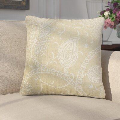 Fabia Floral Throw Pillow Color: Tan