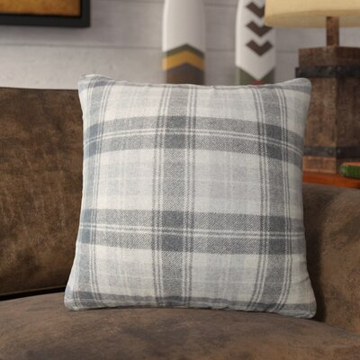 Sweeney Plaid Throw Pillow Color: Charcoal