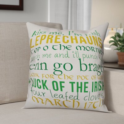 Benites Leprechaun Lingo Throw Pillow