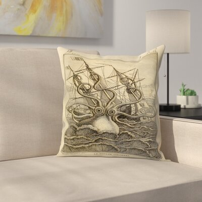 Kraken Original Throw Pillow Size: 16 x 16