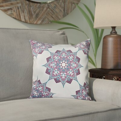 Meetinghouse Rhapsody Geometric Print Throw Pillow Size: 18 H x 18 W, Color: Dark Blue