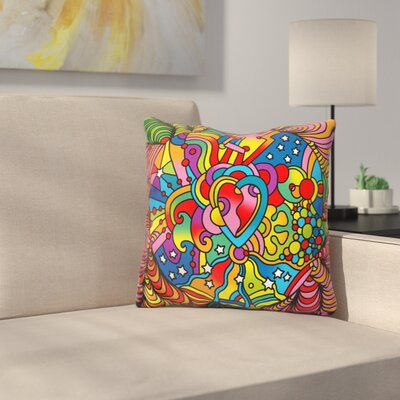 Heart Swirls Throw Pillow