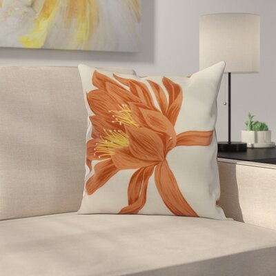 Memmott Throw Pillow Color: Orange, Size: 16 x 16