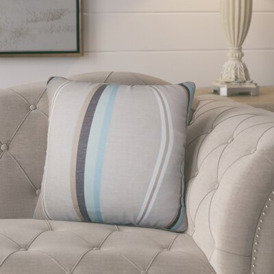 Polster Stripes Throw Pillow Color: Gray