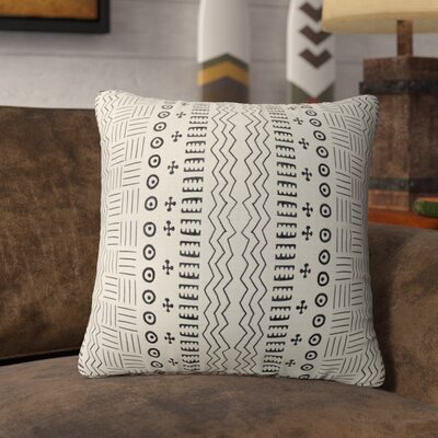 Couturier Geometric Throw Pillow Color: Ivory, Size: 18 H x 18 W