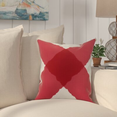 Crider X Marks the Spot Geometric Print Indoor/Outdoor Throw Pillow Color: Red, Size: 16 x 16