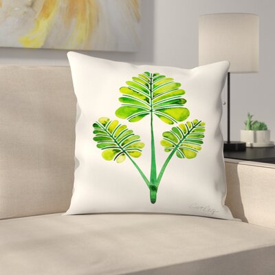Palm Leaf Trifecta Throw Pillow Size: 14 x 14