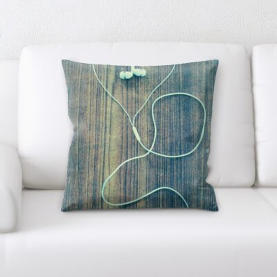 Bingaman Headphones Love Shape Throw Pillow