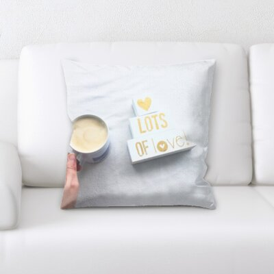 Blane Lots of Love with Coffee Throw Pillow