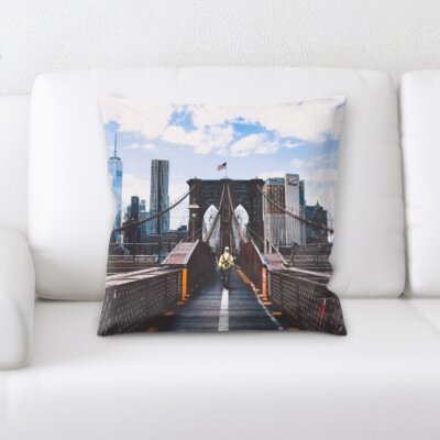 Gosford City of New York Throw Pillow