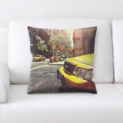 Bovee New York Taxi Throw Pillow