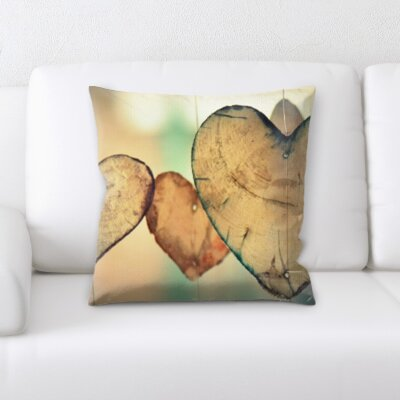 Boatner Love and Heart Shapes Throw Pillow