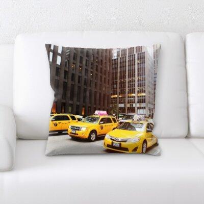 Bradsher New York Taxi Throw Pillow