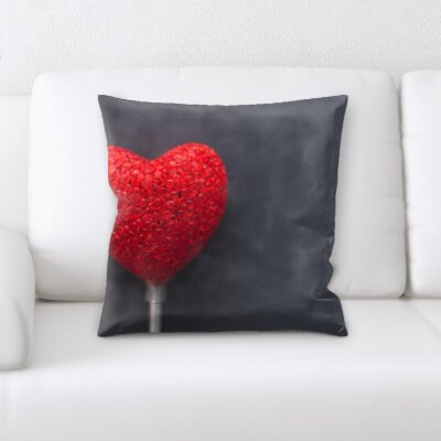 Bolanos Love and Heart Shapes Throw Pillow
