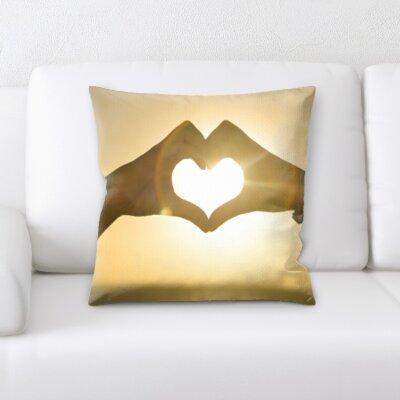 Bonnett Love and Heart Shapes Throw Pillow