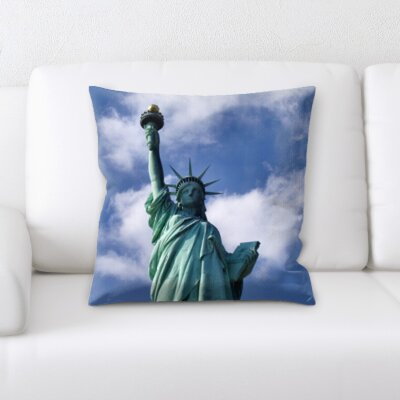 Bradwell Statue of Liberty Throw Pillow