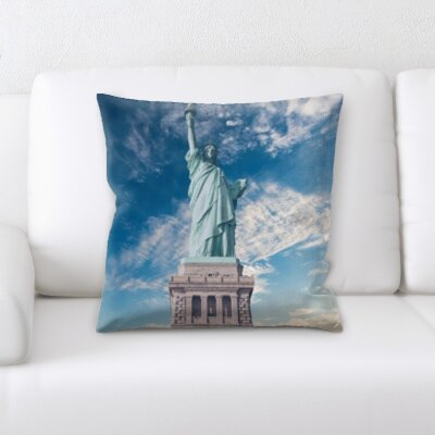 Brassfield Statue of Liberty Throw Pillow