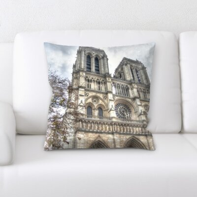 Brekke City of Paris Throw Pillow