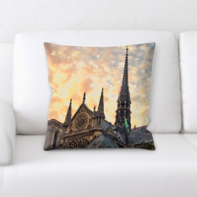 Briese City of Paris Throw Pillow