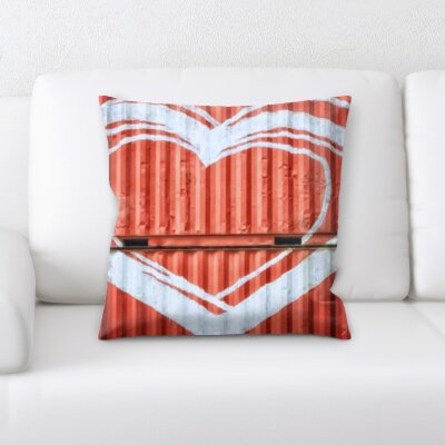 Borger Love and Heart Shapes Throw Pillow