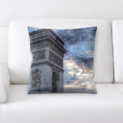 Broward City of Paris Throw Pillow