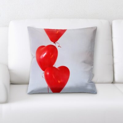 Borowski Love and Heart Shapes Throw Pillow
