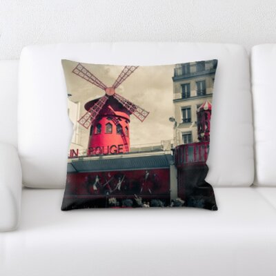 Browder City of Paris Throw Pillow