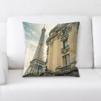 Brownfield City of Paris Throw Pillow