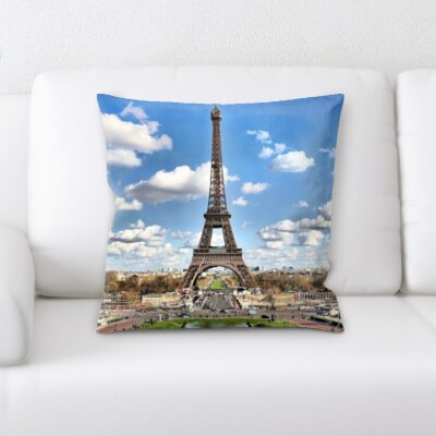 Brumback Eiffle Tower Throw Pillow