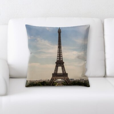 Brumbaugh Eiffle Tower Throw Pillow